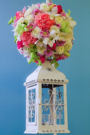 ronantic: Beautiful bouquet of bright flowers isolated on white