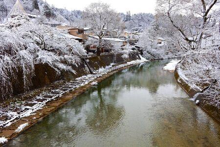 Miyagawa River Surrounded with Snow photo