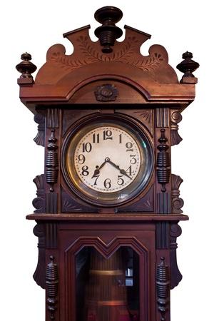 Isolated Vintage Wood Clock  photo