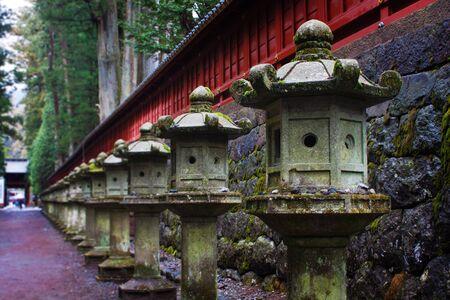 Stone lanterns at Toshogu Shrine, Nikko, Japan Stock Photo - 13895202