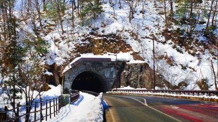Automobile Tunnel at Gassho-zukuri Village Shirakawago photo
