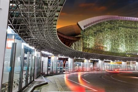 bus station: Bus Station Twilight