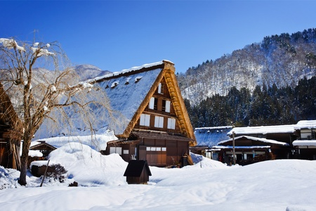 Cottage at Gassho-zukuri Village Shirakawago Stock Photo - 13998417