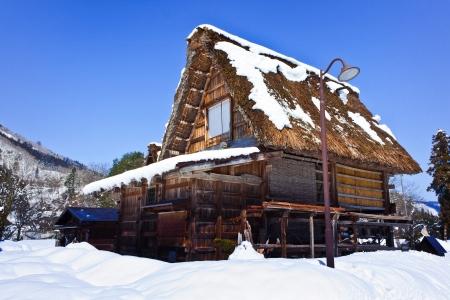 Cottage at Gassho-zukuri Village Shirakawago Stock Photo - 13998425