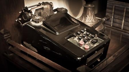 Vintage Calculator Sepia Toning photo