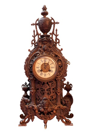 Vintage Wood Clock photo