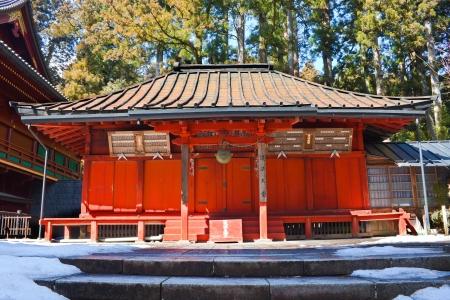 Small Shrine at Rinnoji Temple Nikko Japan