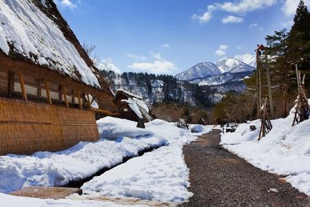 Walk Way at Gassho-zukuri Village Shirakawago Stock Photo - 14226835