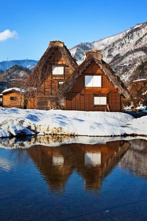 Cottage at Gassho-zukuri Village Shirakawago Stock Photo - 14466558