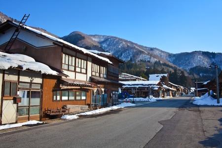 shirakawago: Road inside the Gassho-zukuri Village Shirakawago Japan