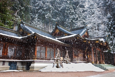 shrine: Sakurayama Hachimangu Shrine, Hida, Takayama, Japan in Winter