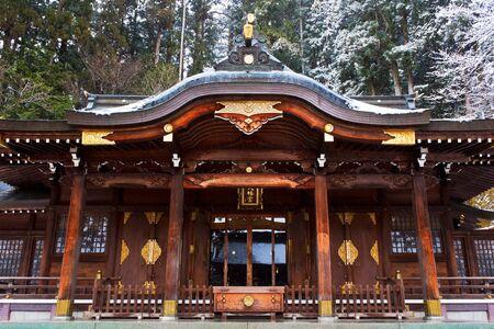 hachimangu: Sakurayama Hachimangu Shrine, Hida, Takayama, Japan in Winter