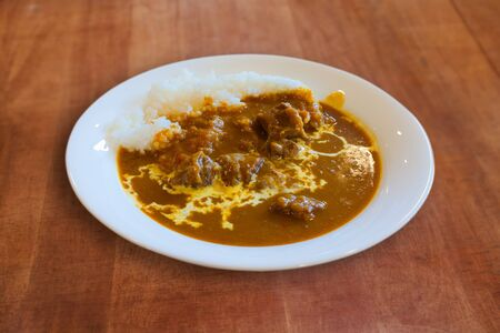 beef curry: Japanese Beef Curry with Rice Stock Photo