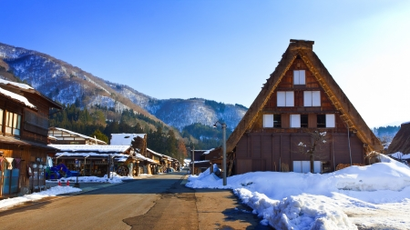 SHIRAKAWA GO, JAPAN - MARCH 27  In side of Ogimachi, Shirakawa-go s largest village and main attraction  Declared a UNESCO world heritage site since 1995 on March 27, 2012 in Shirakawa Go, Japan