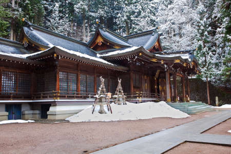 hachimangu: Sakurayama Hachimangu Shrine, Hida, Takayama, Japan in Winter  Stock Photo
