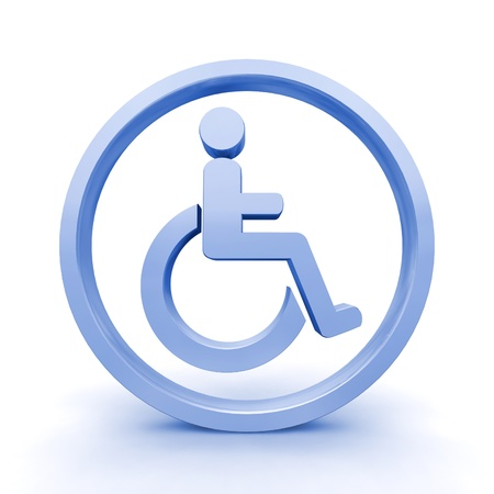 disabled access: Isolated 3D Render of Handicap Sign  Stock Photo