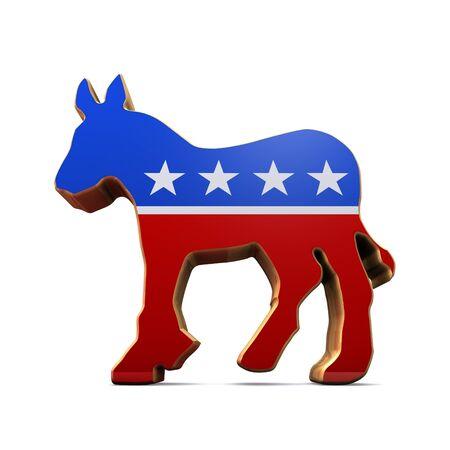 democrat party: Isolated Democrat Party Symbol Editorial