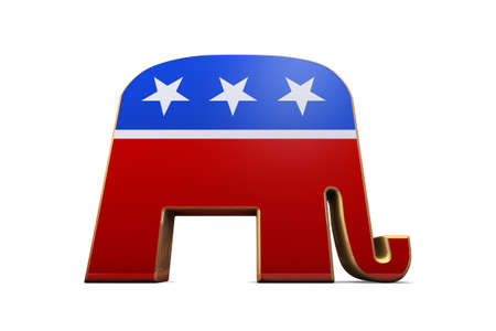 republican party: Isolated Republican Party Symbol