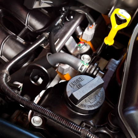 automotive industry: Oil Cap in an Automobile Engine