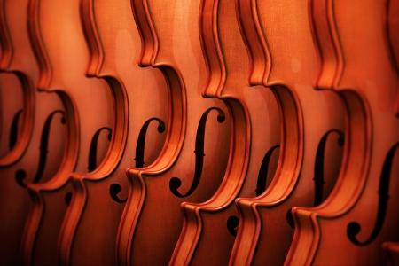 violins: Violins in a Row