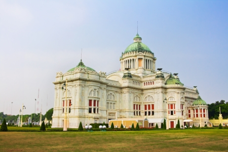 assembly hall: BANGKOK, THAILAND - OCTOBER 17  The Ananta Samakhom Throne Hall, Thailand on October 17, 2012  Built in Italian Renaissance and Neo Classic style, designed by Mario Tamagno and Annibale Rigotti