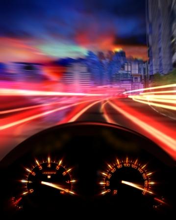 car race: Speedometer