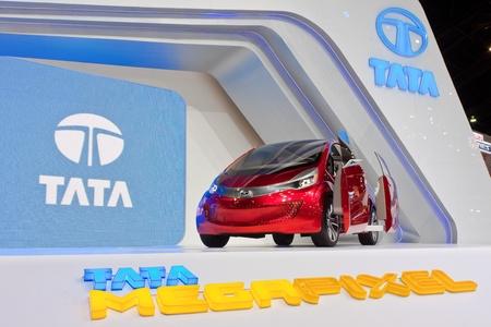 megapixel: BANGKOK, THAILAND - DECEMBER 4  Tata Megapixel Concept, in Bangkok, Thailand on December, 2012  Tata Megapixel concept car displayed at Tata booth in THE 29th THAILAND INTERNATIONAL MOTOR EXPO 2012