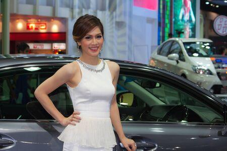 lexus: BANGKOK, THAILAND - DECEMBER 4  Lexus pavilion, in Bangkok, Thailand on December, 2012  Unidentified female model at Lexus pavilion  in THE 29th THAILAND INTERNATIONAL MOTOR EXPO 2012