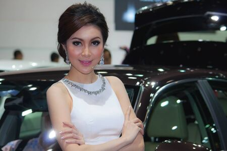 BANGKOK, THAILAND - DECEMBER 4  Lexus pavilion, in Bangkok, Thailand on December, 2012  Unidentified female model at Lexus pavilion  in THE 29th THAILAND INTERNATIONAL MOTOR EXPO 2012  Stock Photo - 16721885