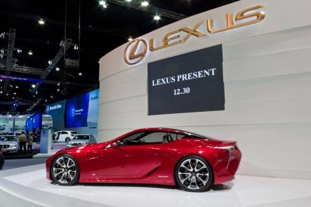 lexus: BANGKOK, THAILAND - DECEMBER 4  Lexus LF-LC Concept, in Bangkok, Thailand on December, 2012  Lexus LF-LC concept car displayed at Lexus booth in THE 29th THAILAND INTERNATIONAL MOTOR EXPO 2012  Editorial