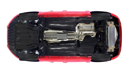 Isolated bottom view of a car Stock Photo