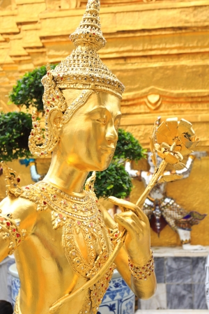 Demon Guardian at Wat Phra Kaew, Temple of the Emerald Buddha, Bangkok, Thailand Stock Photo - 19259176