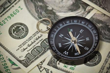 quantitative: U.S. Dollar currencies with a compass