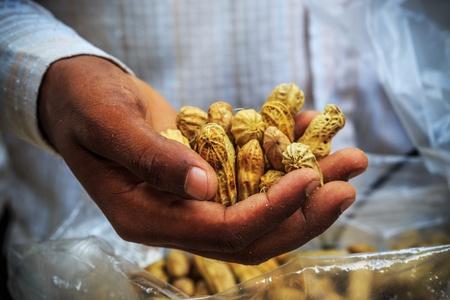 monkey nut: Peanuts in an Indian man