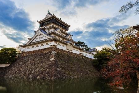 Kokura castle in Kitakyusho nearby Murasaki river in Fukuoka