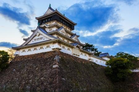 Kokura castle in Kitakyusho nearby Murasaki river in Fukuoka Redakční