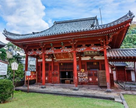 NAGASAKI, JAPAN - NOVEMBER 14  Kofukuji Temple in Nagasaki, Japan on November 14, 2013  Japan