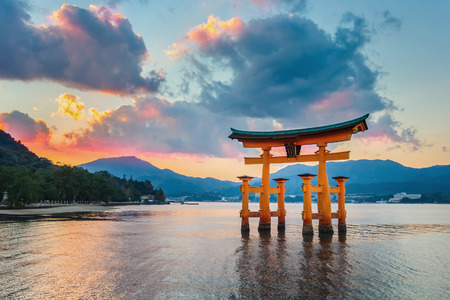 samurai: Great floating gate  O-Torii  on Miyajima island