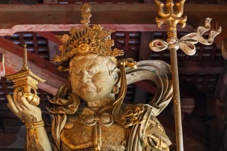 todaiji: Bishamonten - one of the Japanese Seven Gods of Fortune at Todaiji Temple in Nara Stock Photo