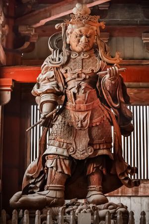 todaiji: Komokuten - The Guardians of the four coners at Todaiji Temple in NaraNARA, JAPAN - NOVEMBER 16  Komokuten in Nara