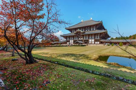 todaiji: Great Buddha Hall  Daibutsu-den  at Todaiji Templein Nara Editorial