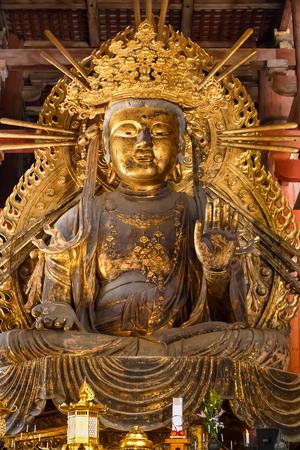todaiji: Kokuzo Bosatsu at Todaiji Temple in Nara Stock Photo
