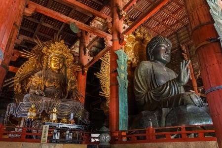 todaiji: Daibutsu with Kokuzo Bosztsu at Todaiji temple Editorial