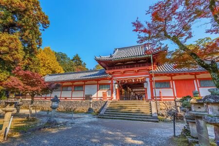 NARA, JAPAN - NOVEMBER 16  Tamukeyama Hachimangu in Nara, Japan on November 16, 2013  Separated from Todaiji Temple in Meiji Period due to the separation of Buddhism and Shintoism