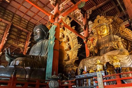 todaiji: Daibutsu with Nyoiri Kannon at Todaiji Temple in Nara