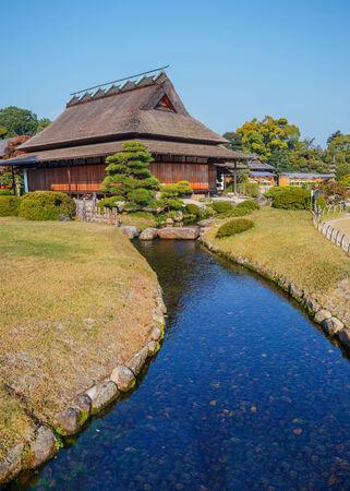 okayama: Enyo-tei House at Korakue-en garden in Okayama Editorial