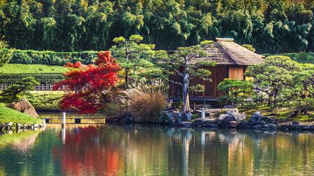 okayama: Shima-Jaya Teahouse at Koraku-en garden in Okayama Editorial