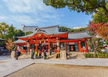 3rd century: Kobe, Japan - November 17 2013  Ikuta-jinja situated in Chuo ward of Kobe, founded by the Empress Jingu at the 3rd century to enshrine the kami Wakahirume