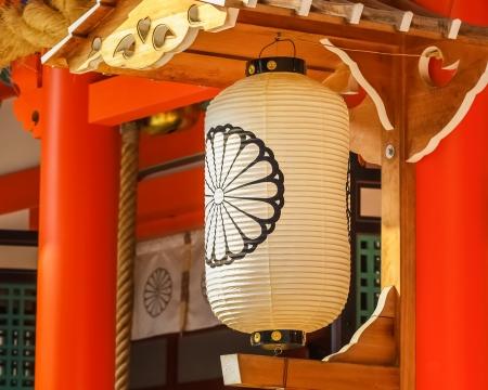 papierlaterne: Dekoriert Papierlaterne bei Ikuta-jinja in Kobe