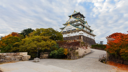 osaka castle: Osaka Castle in autumn